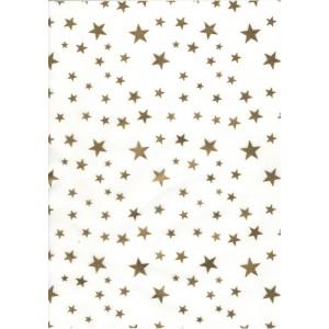 Pauzovací papír  A4 - hvězdy zlaté
