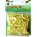 Mozaiková sklíčka - žlutý mix 5x5 mm
