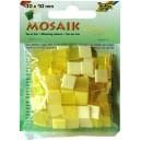 Mozaiková sklíčka - žlutý mix 10x10 mm