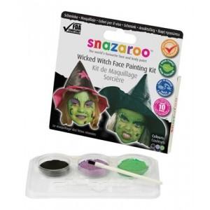 Sada barev na obličej - čarodějnice
