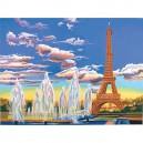 Malování podle čísel - senior - Eifelova věž