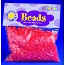 Zažehlovací korálky - červené