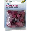 Mozaiková sklíčka třpytivá - růžová 10x10 mm