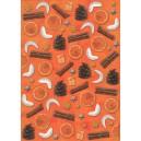 Pauzovací papír  A4 - Vánoce oranžové