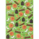 Pauzovací papír  A4 - Vánoce zelené