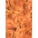 Pauzovací papír  A4 - růže oranžové