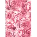 Pauzovací papír  A4 - růže růžové
