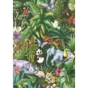 Pauzovací papír  A4 - džungle