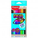 Pastelky Maped Color'Peps Duo 12 kusů (24 barev)