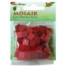 Mozaiková sklíčka - červený mix 10x10 mm