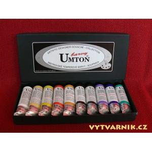 Sada temperových barev Umton - 10 x 16 ml