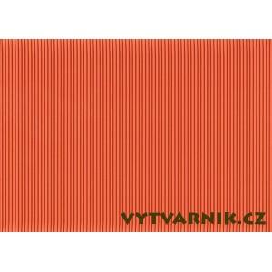 Vlnitá lepenka - oranžová
