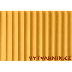 Vlnitá lepenka - tmavě žlutá