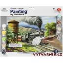 Malování podle čísel - senior - parní lokomotiva