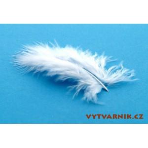Peří marabu malé 10 ks - bílé