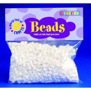 Zažehlovací korálky - bílé